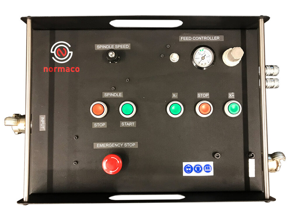 pneumatic Remote control unit is used to safely control the milling machine