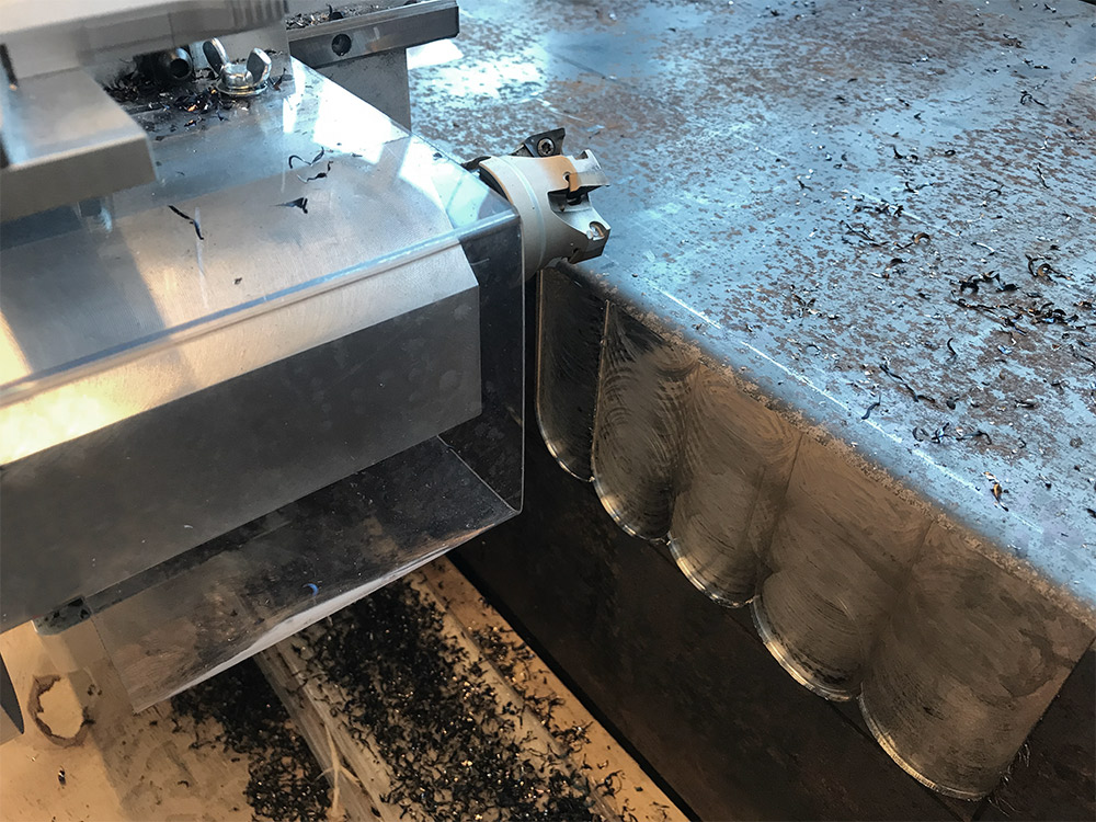 Normaco pneumatic 2-axis milling machine vertically