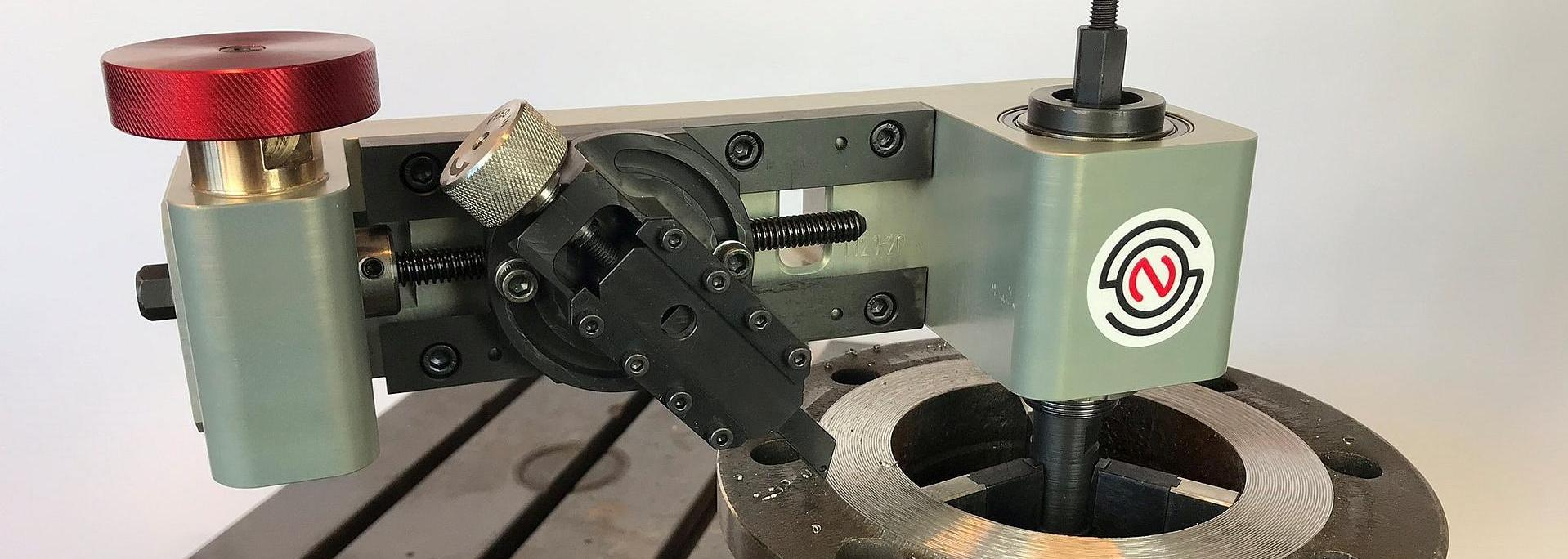 Normaco Manual Facer mounted on a flange